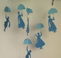 Cardboard Mary Poppins nursery mobile by verycute on Etsy