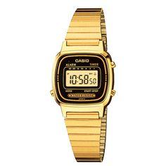 Relógio Feminino Casio, Cronômetro, Pulseira de Aço Inoxidável, Resistente à Água - LA670WGA-1DF -Moda - Relógios - Walmart.com
