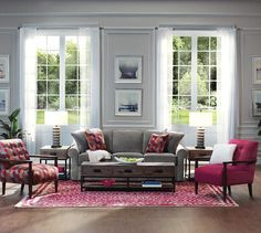 Tailored upholstery makes the La-Z-Boy Collins sofa a classic. Plus, PIN TO WIN an ottoman! Get contest details at http://houseandhome.com/la-z-boy | #LaZBoy #Furniture #Sofa #LivingRoom