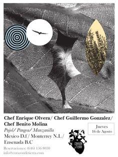 Cena en Corazón de Tierra: Pujol / Pangea / Manzanilla  16 Agosto 2012 / Valle de Guadalupe, BC