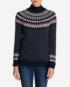 Women's Arctic Fair Isle Sweater   Eddie Bauer