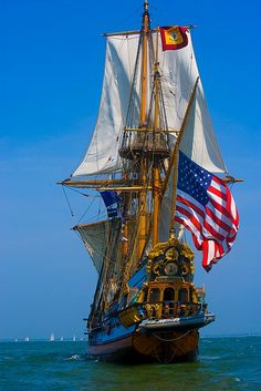 Tall ship in the Parade of Ships, Norfolk, Virginia