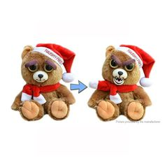 Buy - Feisty Pets Santa Bear Stuffed Animals PlushToy- Beauty Brown Colour - only  at #Babything.  #Babyandkids #FeistyPets #SantaBear #Bearstoy #Babies #Babythings #SoftToy #PlayTime
