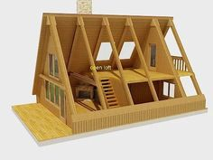 Planning To Build A Shed? Now You Can Build ANY Shed In A Weekend Even If You've Zero Woodworking Experience! Start building amazing sheds the easier way with a collection of shed plans! Tiny House Cabin, Tiny House Design, Cabin Homes, Prefab Homes, Farm House, Triangle House, A Frame House Plans, Model Homes, House In The Woods