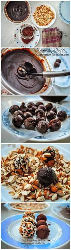 Easy Dark Chocolate Truffles