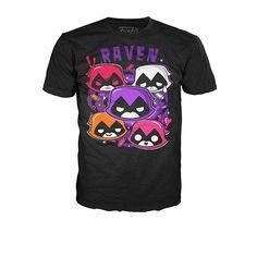 "Funko POP! Tees: Teen Titans Go! Raven Emotions T-Shirt - Large - Funko - Toys ""R"" Us"