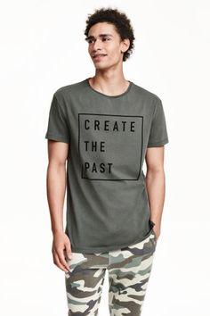 T-shirt com motivo estampado | H&M