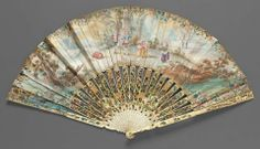 18th century, England - Fan: Blind-man's Bluff - Paper and ivory