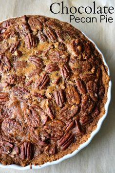 Chocolate Pecan Pie my favorite- served warm with vanilla bean ice cream- heaven