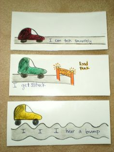 I love the drawing the road idea!! However, this would be super cute to use REAL cars!!!