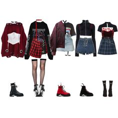 Find images and videos about fashion, kpop and outfits on We Heart It - the app to get lost in what you love. Grunge Outfits, Kpop Fashion Outfits, Stage Outfits, Edgy Outfits, Korean Outfits, Retro Outfits, Dance Outfits, Alternative Outfits, Aesthetic Grunge Outfit