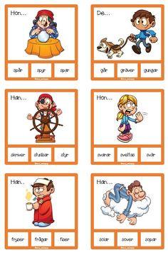 72 nypkort med verb i presens Comics, Cartoons, Comic, Comics And Cartoons, Comic Books, Comic Book, Graphic Novels, Comic Art