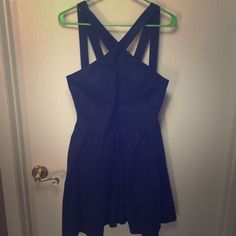 """VS """"moda int"""" black dress Never been worn! Excellent condition with no marks or stains. Very cute summer dress with an adorable back! If you have rather large boobs, I suggest a pass on this, didn't fit right with mine and I order it from VS. Victoria's Secret Dresses"""