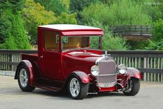 Beautiful Red 1929 Ford Pickup http://patchworkconpatrones-donny.blogspot.com.ar/