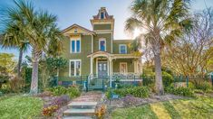 Pippi Longstocking's House Is For Sale in Beautiful Old Town Fernandina Beach in Florida Fostoria Ohio, Fernandina Beach Florida, Heart Pine Flooring, Doors And Floors, Pippi Longstocking, Mansions For Sale, Amelia Island, California Homes, Beach Cottages