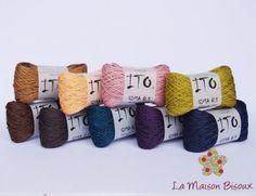 Ito Yarns - Gima 8.5 http://lamaisonbisoux.bigcartel.com/category/ito-yarns-gima-8-5