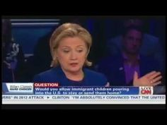 Hillary Clinton Was Against DACA Like Policy in 2014 . Hillary Clinton said illegal kid migrants should be deported back to the country they came from