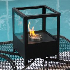 "9.5"" Sparo Indoor/Outdoor Table Top Ethanol Fireplace - NF-T2SPO"