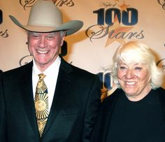 Larry and Maj Hagman.  They were married 1954-2012 (his death).  58 years! <3 <3 <3