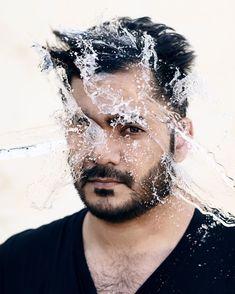 Water splashing on face. Photograph by Irfan Intekhab