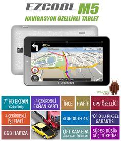"""EZCOOL M5 1 GB RAM 8 GB Hafıza Quad İşlemci GPS 7"""" HD TABLET + KILIF :: DEVesnaf"""