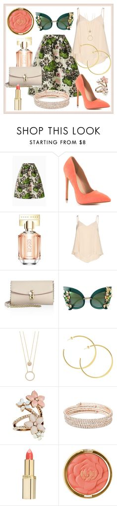 """""""Untitled #73"""" by glamheartcafe ❤ liked on Polyvore featuring Liliana, HUGO, Alice + Olivia, Dolce&Gabbana, Kate Spade, Accessorize, Anne Klein, L'Oréal Paris and Milani"""