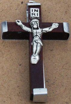 Crucifix Wooden Brown Medium Swiss Army Knife, Crucifix, Door Handles, Medium, Brown, Decor, Swiss Army Pocket Knife, Decoration, Door Knobs