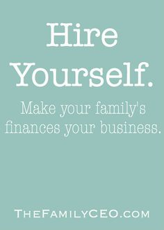 The Family CEO: A blog about money and the business of life.