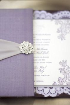 royal purple lavender wedding invitations | ... Wedding Invitation Style: Purple and Silver Wedding Invitations