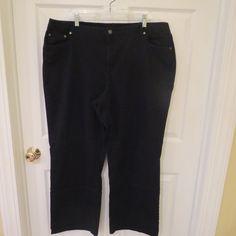 Talbots Classic Fit Black Jeans Size 20W #TalbotsWomans #BootCut