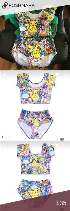 Pokémon two piece pikachu crop top and bottoms Two piece set. Size small. Brand new Pokemon Other