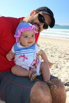Na praia com o papai