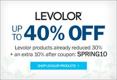 Save up to 40% off Levolor Blinds and Shades!