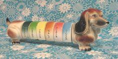 Novelty dachshund spice set... by Vintage LOVE, via Flickr