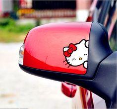 Adesivo pra Retrovisor Hello Kitty