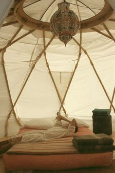 Yurt!  (I wouldn't mind having a nice yurt to hang out in, especially in the spring and fall.)
