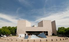 The Dramatic Facade of the East Building of the US National Gallery of Art in Washington DC.