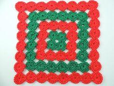 Crochet y Dos agujas Carpeta de Navidad hecha en Japn patrones