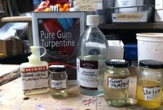 turpentine from the shop