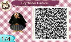 Fraiseberry in AC New Leaf — hogwarts-town: Gryffindor uniform by Lei.