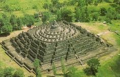 In the 19th century, Dutch occupiers of Indonesia found a massive ancient ruin deep in the jungles of Java. What they discovered was the complex of Borobudur, a gigantic structure built with nearly 2 million cubic feet (55,000 m) of stones. The temple has nearly 2,700 relief panels and 504 Buddha statues.