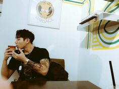 Image about tattoo in c-clown by yema gh on We Heart It Korean Boys Ulzzang, Ulzzang Boy, Korean Men, Cute Asian Guys, Asian Boys, Asian Men, Old Grandpa, C Clown, Christian Yu