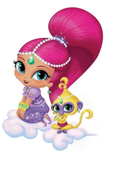 Shimmer and shine character Party Props Cut-outs kids   Etsy