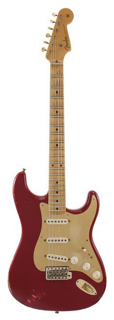 Fender Electric Guitar Custom Shop 1957 Stratocaster Heavy Relic Dakota Red   Rainbow Guitars