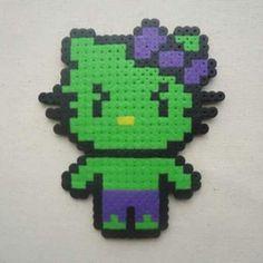 Hulk Hello Kitty perler beads by Shasam Cosplay