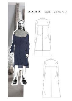 Scalloped-neckline tops Design By Adobe illustrator CC part- 1 Fashion Line, Fashion Art, Fashion Flats, Fashion Outfits, Fashion Portfolio Layout, Fashion Design Sketches, Fashion Sketchbook, Fashion Project, Fashion Books