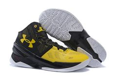 868e3ebd79a UA Stephen Curry Two Basketball Shoes Black Yellow Shoes Uk