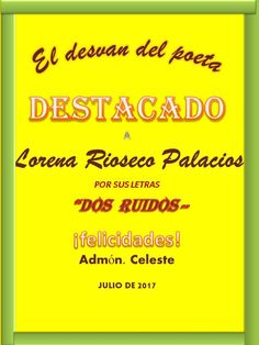 Dos ruidos - Poesia, pensamientos y reflexiones. Profile, Blog, Door Prizes, Writers, User Profile, Blogging