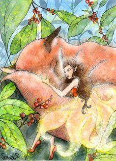Fauna by SarasArtIllustration.deviantart.com on @DeviantArt #fauna #characterdesign #concept #conceptart #fairy #fairytail #fantasy #fox