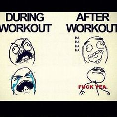 During workout